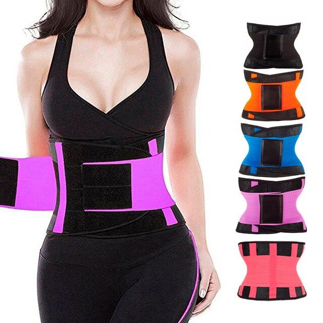 Women Adjustable Waist Trainer Body Shapers Elastic Waist Support Belt Slimming Corset Waist Belt Sports Lumbar Back Sweat Belt 3