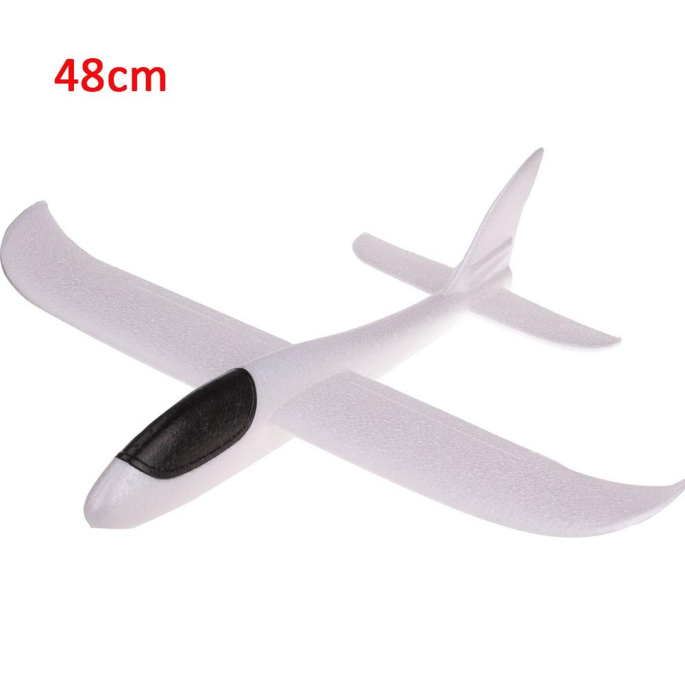 Детские игрушки «сделай сам» самолет из пеноматериала ручной бросок самолет Летающий планер самолет вертолеты летающие модели самолетов самолет игрушка для детей игры на открытом воздухе - Цвет: 48cm-White