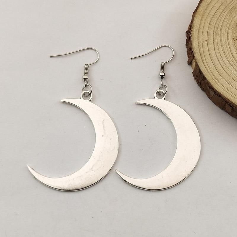 Fashion Cute Moon Pendant Earrings Women Fashion Texture Earring Women Jewelry Gift