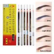 Waterproof Microblading Eyebrow Pencil Peel-off Water-Resistant Black Grey Brown Light Natural White Color