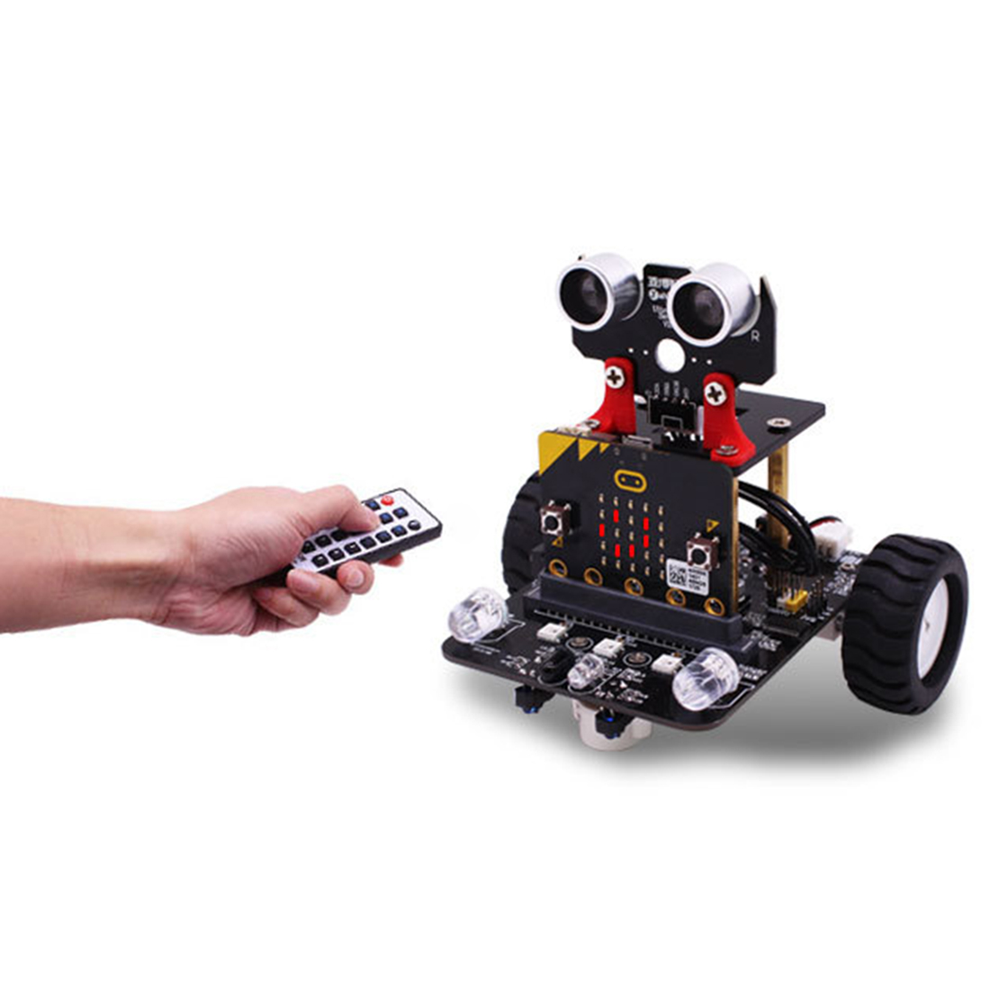 Graphical Programmable Robot Car with Bluetooth IR and Tracking Module Stem Steam Robot Car Toy for Micro:bit BBC 2