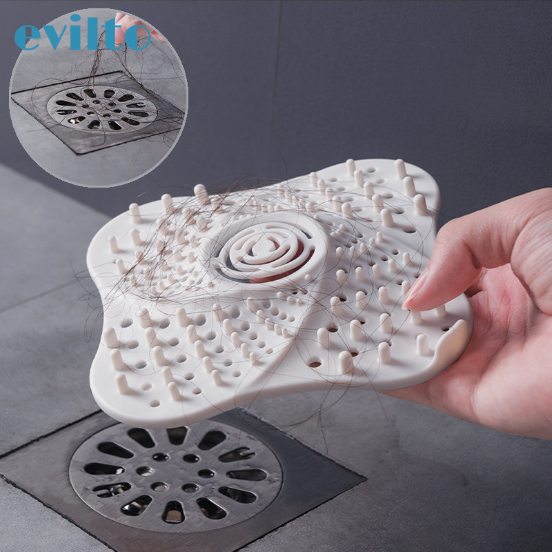Anti-blocking Bathroom Drain Hair Catcher Hair Stopper Plug Trap Shower Floor Drain Covers Strainer Filter Kitchen Sink Strainer