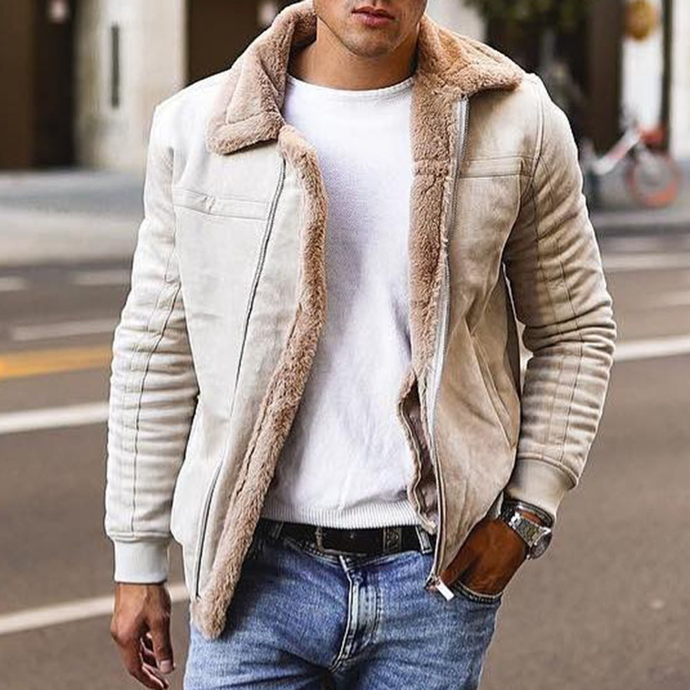 2019 Hot Winter Bomber Jacket Men Motorcycle Jackets Warm Male Faux Fur Collar Mens Army Tactical Fleece Jackets Drop Shipping