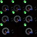 Приборная панель автомобиля-95 мм Тахометр Rpm Gauge шаговый двигатель три светодиодных цвета дисплей с сменный светильник черный циферблат