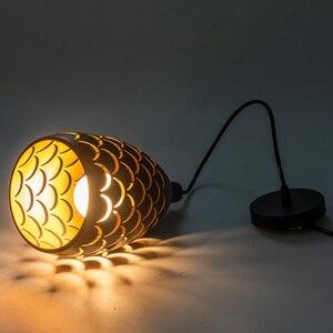 Image 2 - Kryty nowoczesne lampy sufitowe LED prosta restauracja salon oświetlenie sypialni oprawa akcesoria Scaly hollow lampa sufitowa żelazna