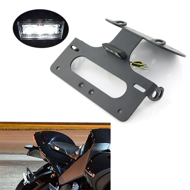 For <font><b>Buell</b></font> <font><b>1125</b></font> R <font><b>1125</b></font> CR 2008 2009 2010 2011 Rear Tail Tidy License Plate Holder Bracket Motorcycle Fender Eliminator kit Black image