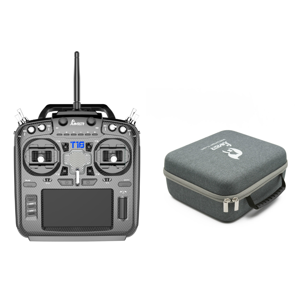 Jumper T18 upgraded T16 Pro Hall Gimbal 16CH Open Source Multi-protocol Radio Transmitter JP5-in-1 Handbag 915mhz(China)
