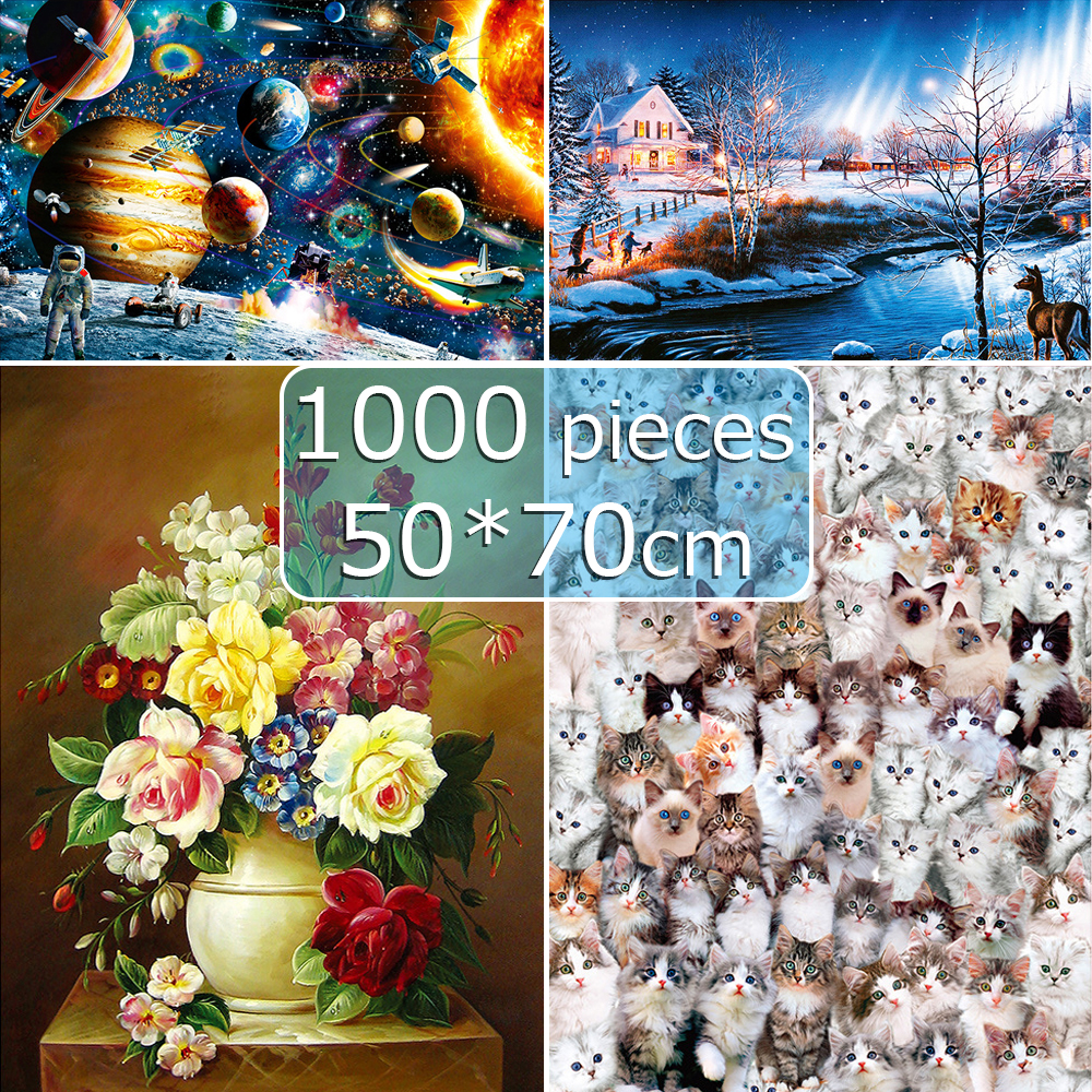 Puzzle 1000 Pieces Adult Jigsaw Puzzles 50*70 Cm Educational Toys Scenery Space Stars Educational Puzzle Toy For Kids Gift