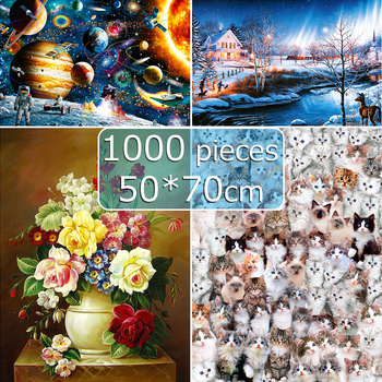 puzzle 1000 pieces adult Jigsaw Puzzles 50*70 cm Educational Toys Scenery Space Stars Educational Puzzle Toy for Kids Gift 1000 pieces jigsaw puzzles educational toys scenery space stars educational puzzle toy for kids birthday gift stickers
