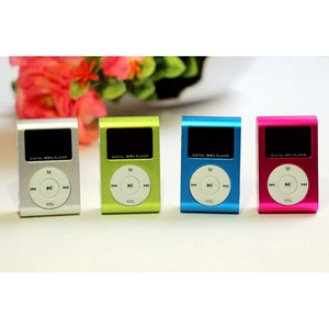 Stereo Jack Outdoor Music Player 5 Colors Micro SD TF Mini Usb Clip Mp3 Player LCD Screen Supports 32GB Micro SD TF Card