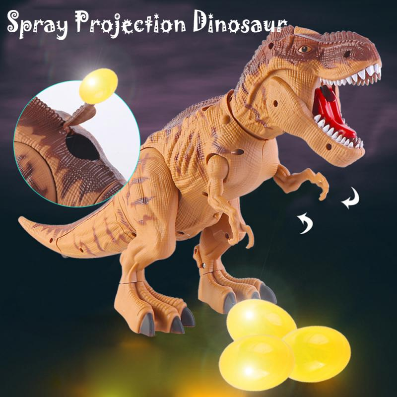 Large Size Walking Electric Dinosaur Robot Toys Laying Egg Walk Sounds Model Toys For Kids Gift