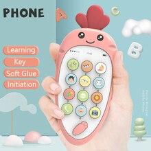 Детские телефоны игрушки для новорожденных 0-12 месяцев игрушка мобильный телефон для детей телефон игрушка для ребенка раннего образования пульт дистанционного управления для телевизора