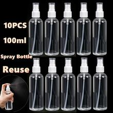 10Pcs 100ML Transparent Plastic Perfume Atomizer Pump Head Design Spray Bottle Reuse And Durable Strong Pressing