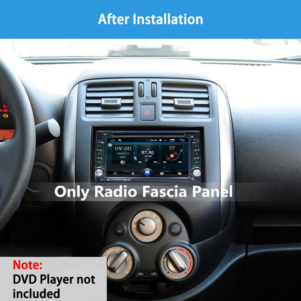 Unit 2 Din Cage Radio Vehicle Case Car Fitting Dvd Player Frame Mounting Plate Plastic Panel With Hardware Accessory For Cars Aliexpress