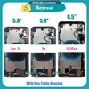 Full Housing for Iphone X / XS / XSMAX Battery Back Cover Door Rear Case Middle Frame Chassis + Back Glass with Flex Cable Parts