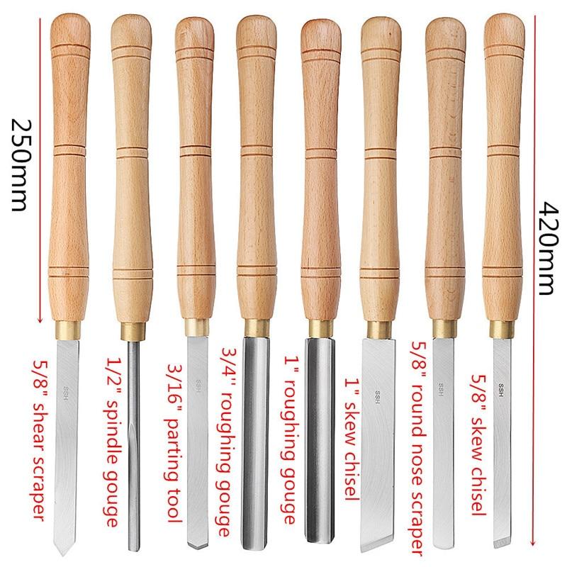1pcs High Speed Steel  Lathe Cutter Tools Wood Lathe Tool Holder Lathe Chisel Wood Turning Tools Woodworking Tool