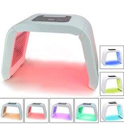 Feita led máquina de fototerapia multi-efeito pdt máscara 7 cores pele rejuvenescimento fotônico equipamentos spa máscara de tratamento de beleza
