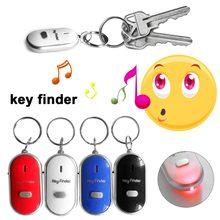 Alarme de auto-defesa led apito localizador de chave piscando alarme de controle de som alarme anti-perdido localizador de keyfinder com chaveiro