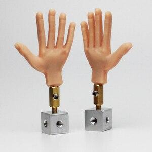 Image 1 - 1 زوج يد سيليكون مع سلك ألومنيوم من الداخل لحرية الحركة لدمية توقف الحركة
