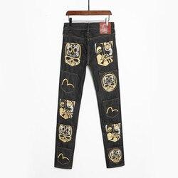 2021 Аутентичные Evisu Дышащие Модные мужские брюки наивысшего качества, прямые мужские брюки с несколькими карманами для отдыха со средней тал...
