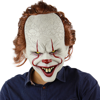 18cm deluxe edition clown action figure neca shf it pennywise figures it model collection return soul 1990 halloween gift 10y05 Joker Cosplay Mask Pennywise Costumes Prop Stephen King's It Chapter Two Pennywise Horror Clown Halloween 2019