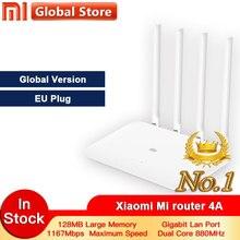 Глобальная версия Xiao mi 4A роутер Gigabit edition 2,4 ГГц+ 5 ГГц WiFi DDR3 с высоким коэффициентом усиления 4 Антенна приложение управление mi Router 4A Wi-Fi Повтор
