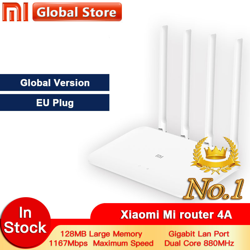 Global Version Xiaomi 4A Router Gigabit Edition 2.4GHz +5GHz WiFi  DDR3 High Gain 4 Antenna APP Control Mi Router 4A WiFi Repeat