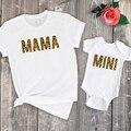 Рубашка с леопардовым принтом для мам и мам, летний Подарочный топ с надписью, семейный образ, комплект с леопардовым принтом, 2020