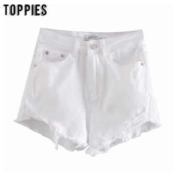 Summer Hot Denim Shorts White Black Tassel Bottoms High Waist Booty Shorts Womens Sexy Streetwear