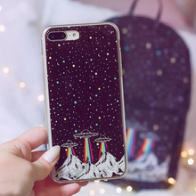Soft Space Cases For iPhone XR XS MAX X 10 7 8 6 6S Plus 5S 5 SE Fashion Fundas Planet Moon Star Protective Silicone Case Cover