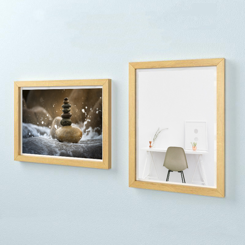 Wall Mounting Magntic Label Frame A4 Picture Holder Wooden Menu Picture Frame