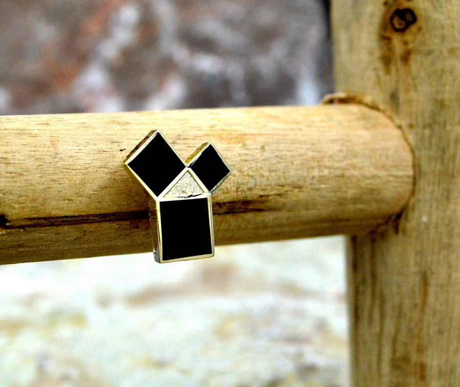 Masonic black Lapel Pins Badge Mason Freemason   the 47th problem of Euclid