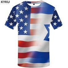 3d Tshirt American Flag T-shirt Men Israel Tshirts Casual Printed United States Anime Clothes Harajuku Shirt