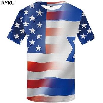 3d Tshirt American Flag T-shirt Men Israel Flag Tshirts Casual Israel Tshirt Printed United States Anime Clothes Harajuku Shirt jerusalem israel united states embassy trump challenge coin dedicated may 14 2018