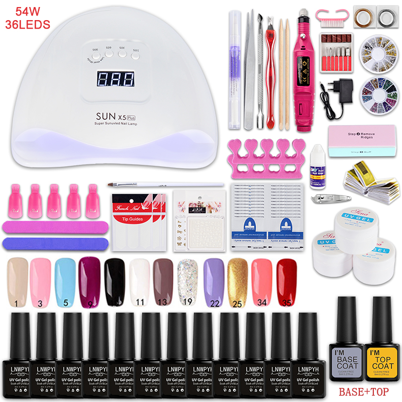 Nail set and Nail Lamp Polish Kit