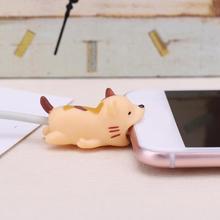 1 шт. милый укус мультфильм животных кабель протектор шнур провода защиты мини крышка зарядный кабель намотки Высокое качество протектор