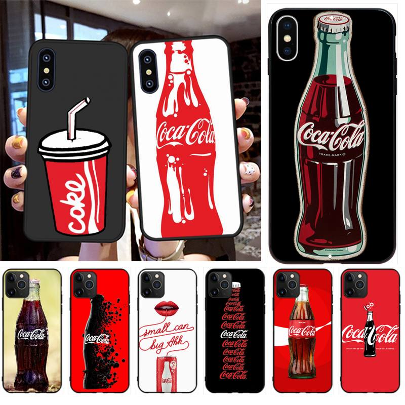NBDRUICAI Coca Cola Coque Shell Phone Case for iPhone 11 pro XS MAX 8 7 6
