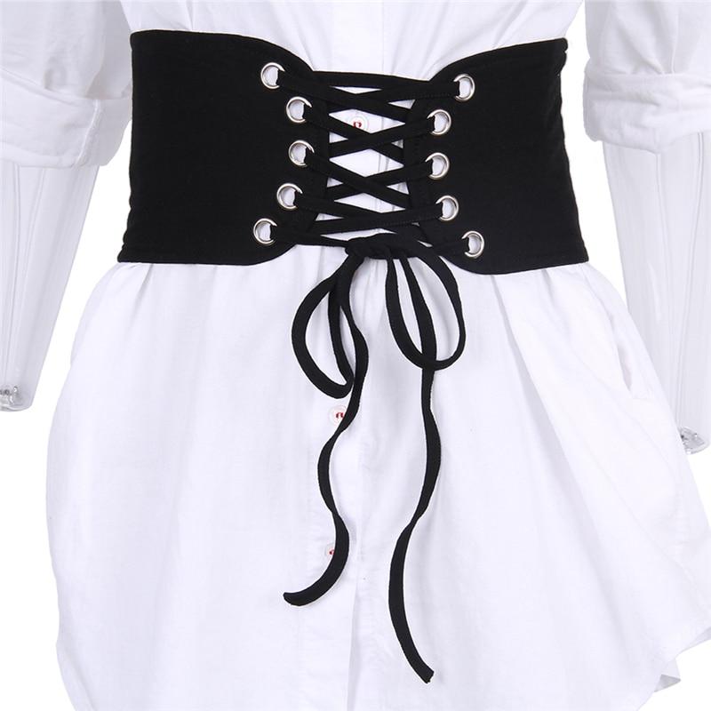 Fashion Belts For Women Faux Leather Wide Belt Female Bowknot Weaving Belt Boho Waist Band Cummerbunds Lace Up Bandage Belts