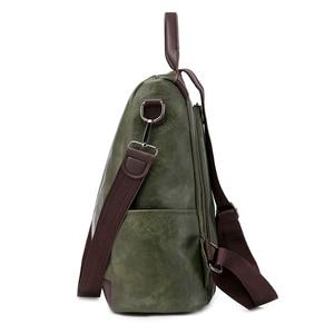 Image 3 - Toposhine盗難防止、女性のバックパックファッションシンプルな無地スクールバッグpuレザーの女性のバックパック女の子女性バッグ