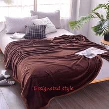 Manta de terciopelo de lujo para sofá cama, manta cálida suave y amigable con la piel para las cuatro estaciones, a la moda, Color