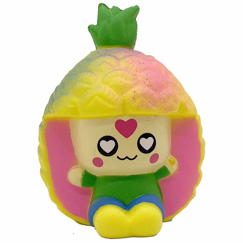 Breloques parfumées Squish à montée lente Jumbo jouet à presser Squishy Kawaii pastèque citron banane jouets ananas sangles de téléphone