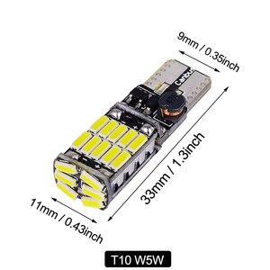 2 T10 W5W 194 T15 W16W 921 светодиодные фары для автомобиля LED Canbus стоп-лампа 12V белый/оранжевый/красный автомобильные задние фары Боковой габаритный ф...