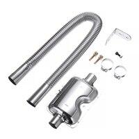 60cm Stainless Steel Car Exhaust Pipe Gas Vent Hose Diesel Heater Exhaust Muffler Pipe For Webasto Eberspacher Heater