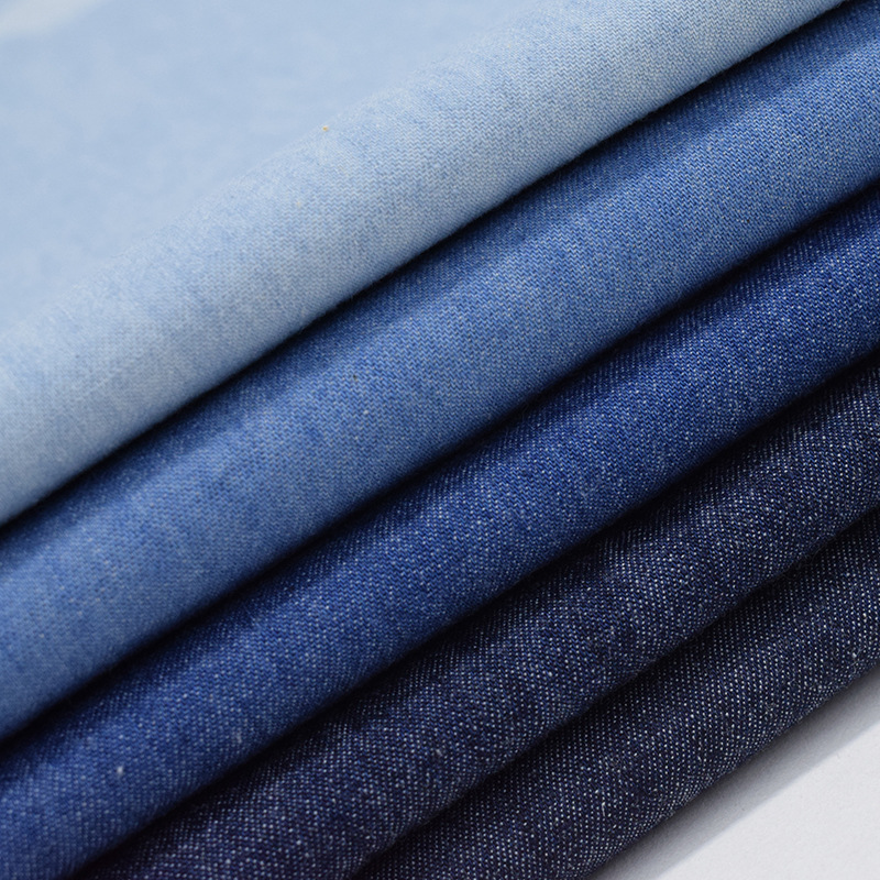 Factory wholesale bulk denim fabric washed twill woven 100% cotton 32S