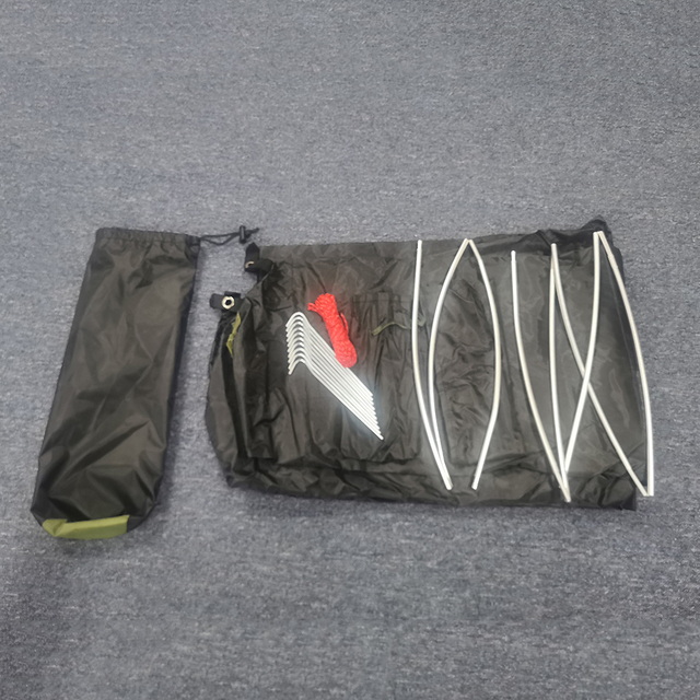 Camping ultralight tent, travel backpack single tent, army green tent 100% waterproof sleeping bag 3