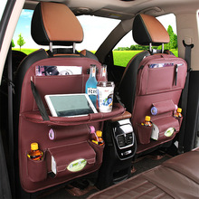 Car Seat Storage Bag Multi-functional Table Hanging Foldable Plate
