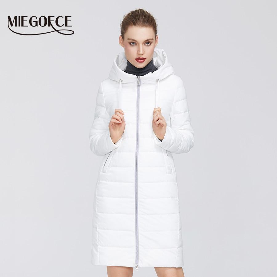 MIEGOFCE 2020 New Spring Women´s Cotton Jacket Windproof Coat Medium Long With Durable Collar Stylish Women Warm Jacket Parka