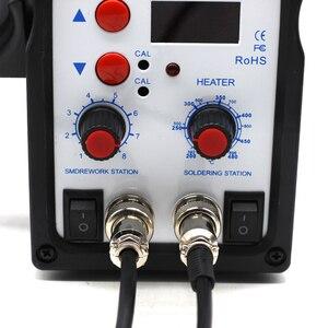 Image 5 - 8586 2 ב 1 ESD אוויר חם אקדח הלחמה תחנת ריתוך הלחמה ברזל עבור IC SMD הסרת הלחמה vs 858 8858 858D 8858D 8032 8018lcd