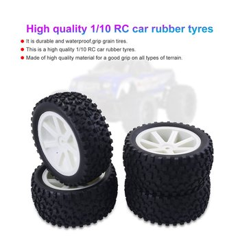 4PCS 1/10 RC Car Rubber Tyres Plastic Wheels for Redcat HSP HPI Hobbyking Traxxas Losi VRX LRP ZD Racing 1/10 Buggy lrp лосьон