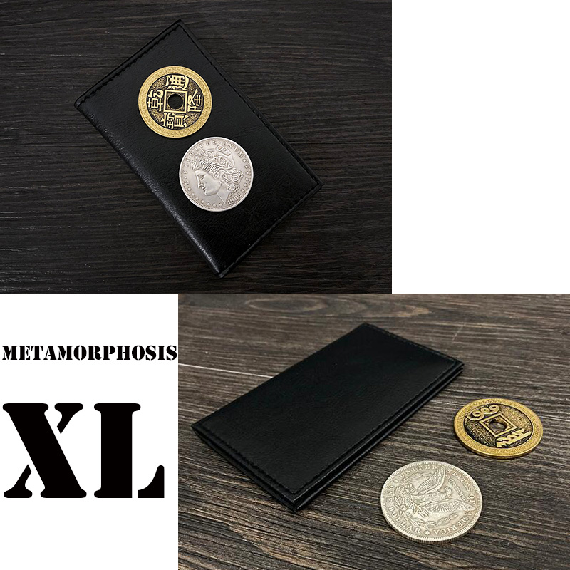 Metamorphosis XL (Gimmicks And Online Instructions) Magic Tricks Coins Change Places Magia Close Up Illusions Gimmick Props Fun